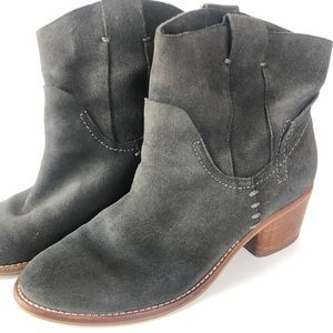 Dolce Vita Grey Suede Ankle Festival Bootie